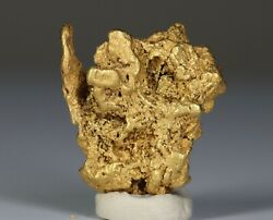 Gold From Idaho Gold Nugget Semi-crystalline With Thick Wires Of Gold