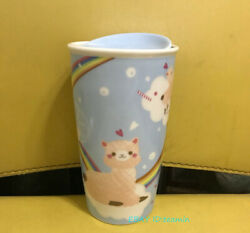 Starbucks 2019 Summer Alpaca 12oz Cup Double Ceramic Mugs Gift Collection Stock