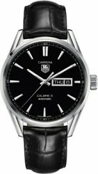 Tag Heuer Carrera War201a.fc6266 Menand039s Luxury Automatic Calibre 5 Leather Watch