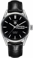 Tag Heuer Carrera War201a.fc6266 Men's Luxury Automatic Calibre 5 Leather Watch