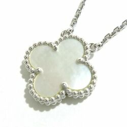 Auth And Vintage 18k White Gold Mother Of Pearl Necklace