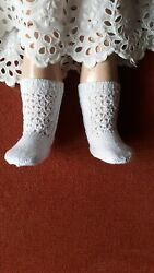 Antique Pattern White Socks For Antique French German Or Repro Doll
