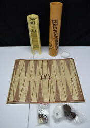 Rare Vintage Travel Backgammon Mcdonaldand039s Game 1978 Made In Usa By Game Merchant