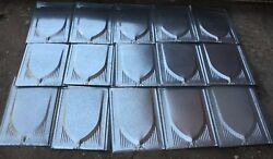 Nos Vintage Style 26 Gauge Metal Roof Shakes Lot Of 360 Pieces