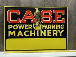 Case Power Farming Machinery Metal Embossed Sign Eagle Farm Agriculture Gas Oil