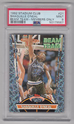 1992 Topps Stadium Club Shaquille Oand039neal Rc Rookie Beam Team Members Only Psa 9