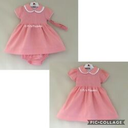 Baby Girls Spanish Style Dress Outfit Smocked Traditional Salmon