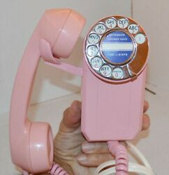 Pink Automatic Electric Space Saver 1960's Wall Telephone Mcm Western Era