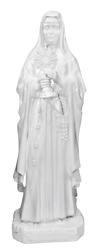 Saint Clare 47 Inch Large Catholic Religious Gifts Resin Large Garden Statue