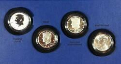 2014 50th Anniversary Jfk Kennedy Half-dollar Silver 4 Coin Us Mint Collection