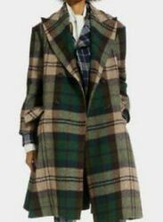 Vivienne Westwood Princess Coat 36 Check Pattern Green 2018-2019 Used From Japan