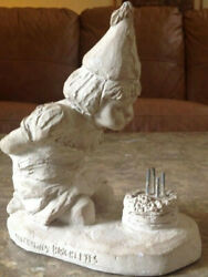 Austin Production Inc Dee Crowley Figurine 1989 Girl Blowing Out Birthday Cake