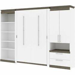 Atlin Designs 118 Full Murphy Bed With Multifunctional Storage In White