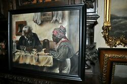 19th Century Americana And039and039 African American Study By Artist R. J. Houck