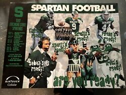 Michigan State Spartans 1997 Football Poster..smb Marching Band In Picture