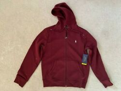 Polo Performance Burgundy Zip Up Hoodie Sizes S And Xxl New Rrp £129