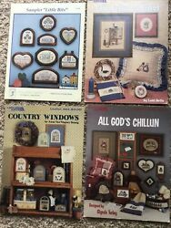 Lot Of 4 Vintage Counted Cross Stitch Leaflets - The Jelly Cabinet....