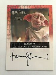 Harry Potter Heroes And Villains Autograph Card Toby Jones Dobby Auto Signed