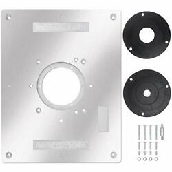 1 Pcs Aluminum Router Table Insert Plate For Popular Trimmers Routers Diy Woodwo