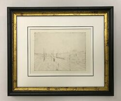 Paul Clay Etching Copperplate Prints Railroad Station 1945 Klee