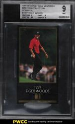 1997 Champions Of Golf Masters Collection Gold Foil Tiger Woods Rookie Bgs 9 Mt