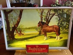 Vintage 1950s Budweiser Clydesdale Lighted Signs