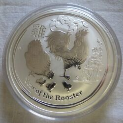 2017 10oz Pure 9999 Silver Lunar Year Of Rooster Australia 10 Dollars
