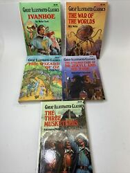 Ivanhoe Great Illustrated Classics Ivanhoe, Wizard Of Oz, Dr Jekyll, Musketeers