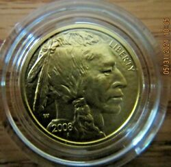 2008 United States Mint American Buffalo 1/4 Ounce Gold Bu Coin Item Bx8