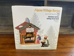 Dept 56 Alpine Village Christmas Market Holiday Bread Booth -retired- Free Ship