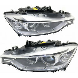 Fits Bmw 320i Headlight 2013-2015 Pair Lh And Rh Side W/o Bulbs And Ballast Hid