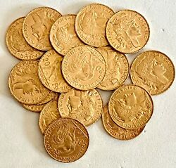 Wow__1- Gold 20 Francs-assorted Dates Au-gem Uncirculated Condition See Gold