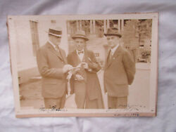John J Pershing Us Commander + Admiral W.d Rodgers Autograph Photo Cdv Signed
