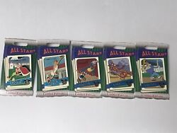 2020 Disney Parks Trading Card All-stars Pins Limited Edition Lot Of 5 Pins New
