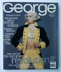 George Magazine Inaugural Premiere Issue Oct / Nov 1995 Cindy Crawford Cover Exc