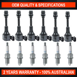 Pack Of Swan Ignition Coils And Ngk Spark Plugs For Nissan Murano Vq35de 3.5l