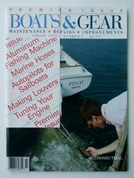 Rare Boats And Gear Boating Magazine Premiere Issue Spring 1990