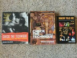 Hip-hop Books Lot Check The Technique Vol.1 And 2 Rakim Told Me By Brian Coleman