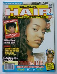 Rare Black Hair Today Beauty And Lifestyles Magazine Premiere Issue July 1990