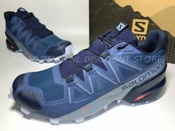 Salomon Womenand039s Speed Cross 5 Trail Running Shoes Seal/navy/heather Sizes
