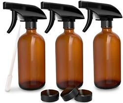 Empty Spray Bottle 3pc 8 Oz Water Chemical Small Lot Pump Travel Plastic Trigger