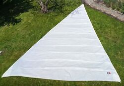 Hank-on Head Sail. Luff 31.5and039 Leech 31.25and039 Foot 18.0and039. New Condition.