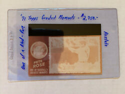 1971 Topps Greatest Moments Acetate Proof - Pete Rose