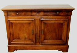 Antique French Louis Philippe Walnut Sideboard Chest Cabinet Commode Buffett