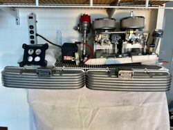Small Block Chevy Dual-4 Quad Set-up  Complete
