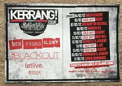 New Found Glory The Blackout Letlive - Tour 2012 2-page Uk Magazine Ad