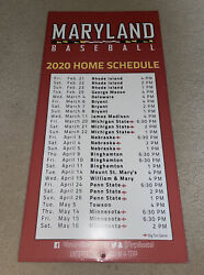University Of Maryland Baseball 2020 Home Schedule Team Building Used Metal Sign