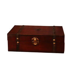 Antique Wooden Box Case Rings Earrings Jewelry Display Retro Storage Organizer