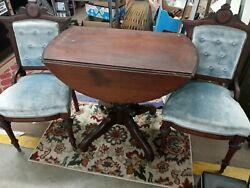 Drop Leaf Table And Chairs Vintage