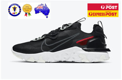 Nike React Vision 3m Sneakers Mens Us 8-9 Black And White Running Training Shoes